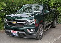 2015 Chevrolet Colorado Z71 Extended Cab 4WD, front.jpg