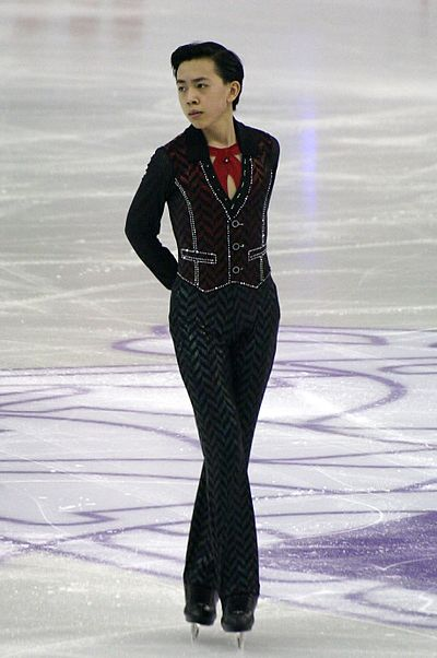 Vincent Zhou was the junior record holder for the combined total and free skate scores.