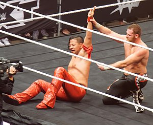 NXT TakeOver: Dallas - Shinsuke Nakamura and Sami Zayn after their match