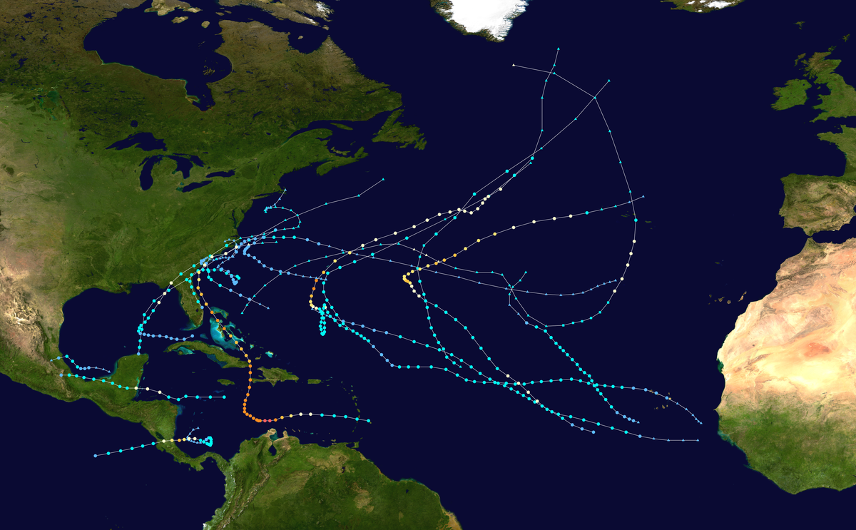 1850�1359 Atlantic hurricane seasons