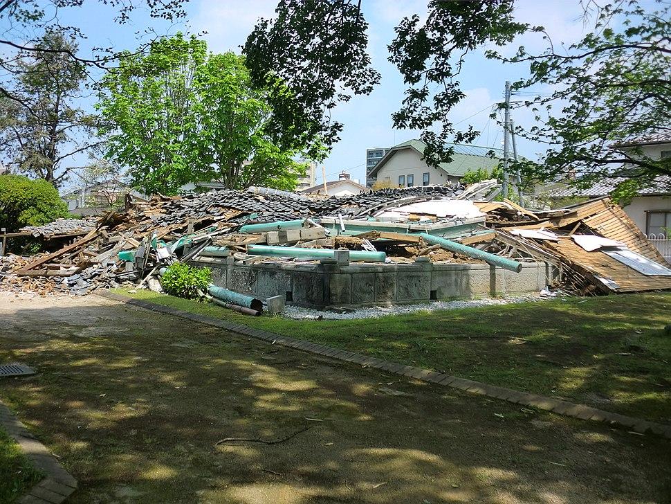 2016 Kumamoto earthquake Mr. Janes's residence 1