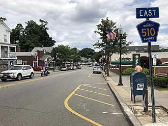 County Route 510 (New Jersey) - CR 510 eastbound on Morris Street in Morristown