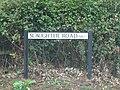 2018-08-09 Street name sign, Slaughter Road, Gimingham.JPG
