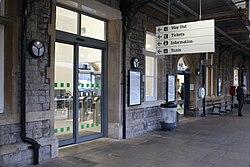 2018 at Weston-super-Mare station - new exit from platform 2.JPG