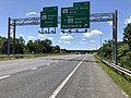 2019-06-14 13 59 34 View north along the Outer Loop of the Baltimore Beltway (Interstate 695) at Exit 40 (Maryland State Route 151-North Point Boulevard, TO WEST Maryland State Route 150-Eastern Boulevard, Baltimore) in Dundalk, Maryland.jpg