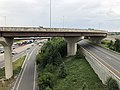 2019-06-24 16 22 51 View north along Interstate 95 (Henry G. Shirley Memorial Highway) from the overpass for the ramp from eastbound Virginia State Route 644 (Franconia Road) to northbound Interstate 495 in Springfield, Fairfax County, Virginia.jpg