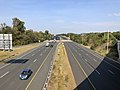 2019-10-02 10 22 50 View west along Virginia State Route 7 (Harry Byrd Highway) from the overpass for the ramp from Virginia State Route 28 northbound to Virginia State Route 7 westbound in Ashburn, Loudoun County, Virginia.jpg