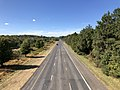 2019-10-10 14 05 22 View west along the westbound lanes of Maryland State Route 32 (Patuxent Freeway) from the overpass for Broken Land Parkway in Columbia, Howard County, Maryland.jpg