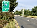 2020-06-11 18 25 33 View east along Maryland State Route 190 (River Road) at the exit for Interstate 495 NORTH (Frederick, Baltimore) in Potomac, Montgomery County, Maryland.jpg