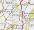 20th Century map of Leaveland, Kent.png