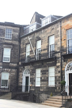 William Fettes Douglas - Douglas's house at 21 Coates Crescent, Edinburgh
