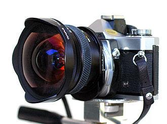 Olympus OM-1 - Olympus OM-1n with 24mm Zuiko-Shift lens