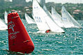 251000 - Sailing Sydney Harbour course buoy - 3b - 2000 Sydney race photo.jpg