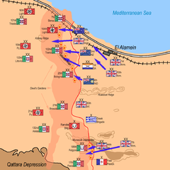 Allied Forces attack: 10:00 p.m. 23 October