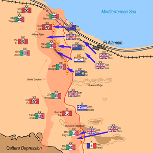 101st Motorised Division Trieste - Trieste starting position 23 October second battle of El Alamein