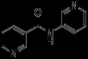 3-Pyridylnicotinamide - Image: 3 Pyridylnicotinamide