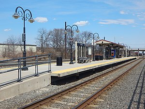 36th Street (River Line station) - The 36th Street station in April 2015.