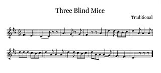 Three Blind Mice 1805 traditional song