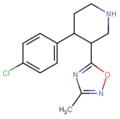4-(4-Chloro-phenyl)-3-(3-methyl-(1,2,4)oxadiazol-5-yl)-piperidine.png