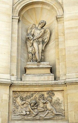 Fontaine des Quatre-Saisons - Bas-relief of Spring