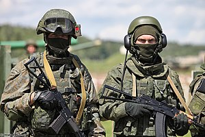 Russian Armed Forces - Ratnik infantry combat system in recon variant and AFV crew individual protection kit Ratnik-ZK