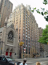Photograph of 55 Central Park West which served as the home of Dana and Louis and the setting for the climactic battle