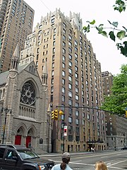 The properties in the Central Park West Historic District, such as 55 Central Park West, are part of both federal and local historic districts.