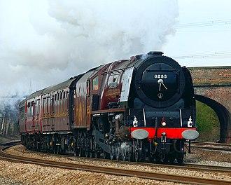 LMS Princess Coronation Class 6233 Duchess of Sutherland - 6233 Duchess of Sutherland at Monk Fryston