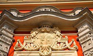 Czapski Palace - Krasiński coat-of-arms over main entrance