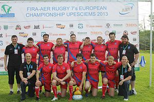 Rugby union in Iceland - Icelandic rugby team at the sevens tournament in Riga in June 2013