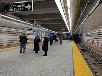 72nd Street (Second Avenue Subway) - Platform level