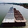 87h065 Towboat Joan W approaching Clark Bridge (7343323876).jpg