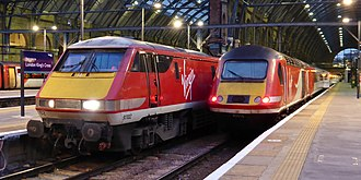 Virgin Trains East Coast - Virgin Trains East Coast InterCity 225 and  HST at London King's Cross