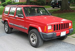 1997-2001 Jeep Cherokee photographed in USA. C...