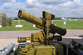 9P135 Fagot missile launcher at Engineering Technologies 2012.jpg