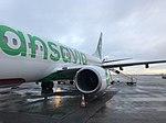 Aéroport de Lyon-Saint-Exupéry - terminal 1B - mars 2018 - avion Transavia - 2.jpg