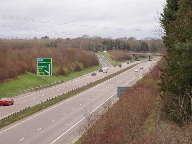 A419-A417 slip road to Cirencester - geograph.org.uk - 293591