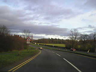 A456 road road in England
