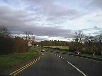 A456 road - Image: A456 clent