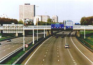 European route E30 - E30 near The Hague