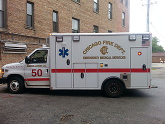Organization of the Chicago Fire Department - Ambulance 50 at South Shore Hospital