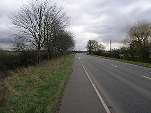 A616 road - Towards Newark