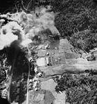 AD-4 Skyraiders of VA-195 attack lumber mill in Korea on 28 August 1952.jpg