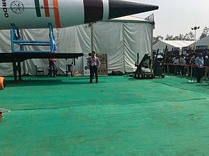 Agni-V - AGNI V at at Defence Expo