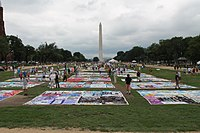 AIDS Quilt at 2012 International AIDS Conference.JPG