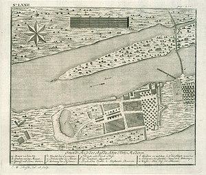 Matara fort - 1735 Map of Fort Matara