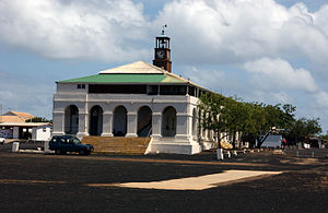 Ascension Island - Royal Marine barracks (1830) in the former Royal Dockyard, Georgetown