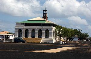 Ascension Island - Royal Marine barracks (1830) in the former Royal Dockyard, Georgetown