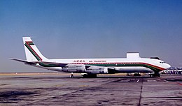 AZZA Air Transport B707-330C ST-AKW (8518489171).jpg