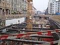 A 4-es metró Móricz Zsigmond körtéri állomásának építése (2008).jpg